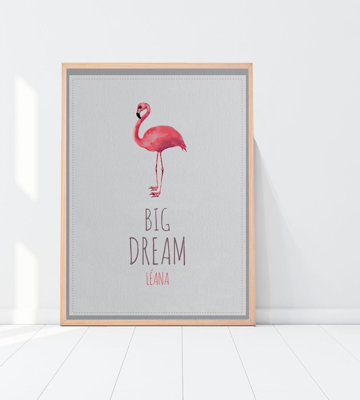 affiche flamingo personnaliser sur notre site. Black Bedroom Furniture Sets. Home Design Ideas