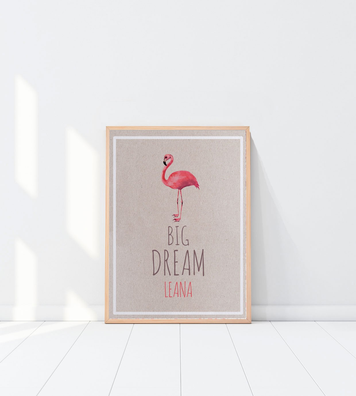 Affichette Flamingo