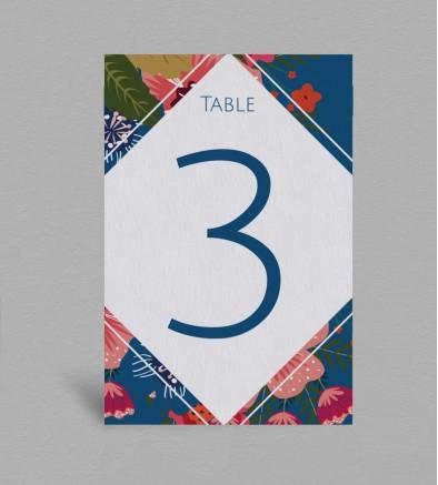 Numéro de table boheme Frida