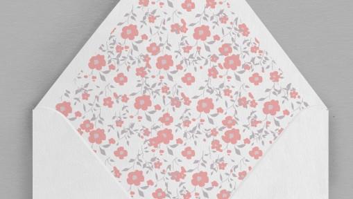 Intérieur enveloppe Liberty fleurs