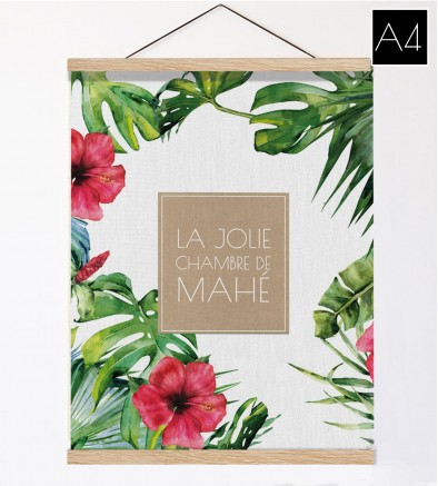 Affiche et suspension en bois Apanga A4