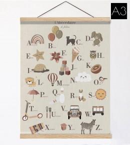 Affiche et suspension en bois A3