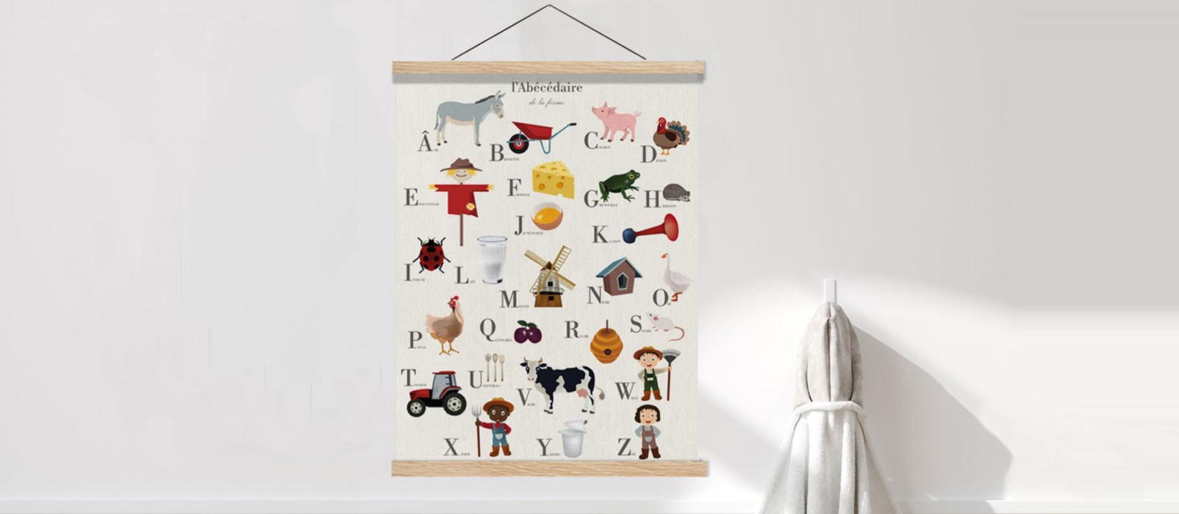 Affiche et suspension en bois A4