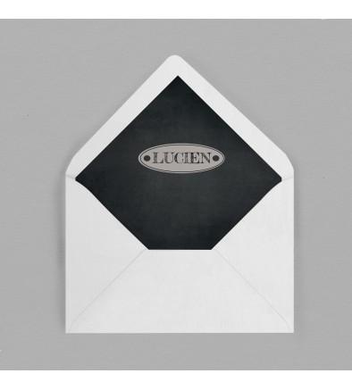 Intérieur enveloppe Vintage Ardoise
