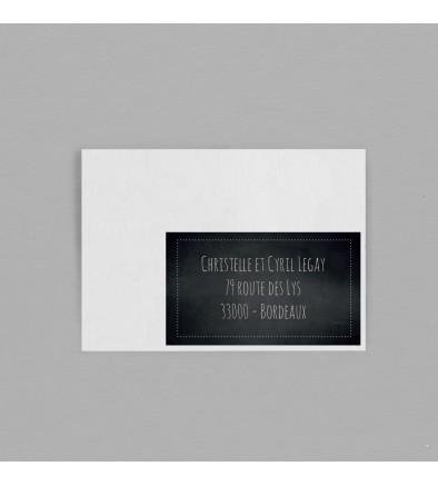 Etiquette enveloppe Vintage Ardoise