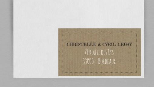Etiquette enveloppe Vintage Kraft 2