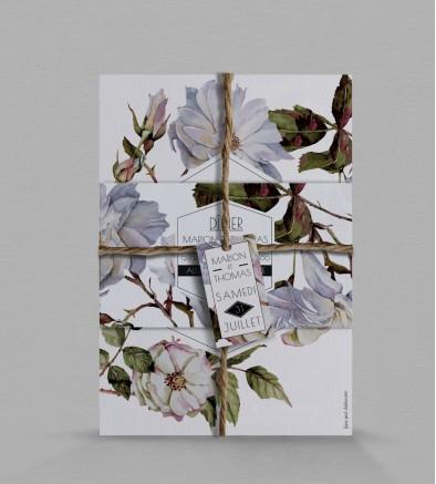 Faire-part de mariage botanique Apolline