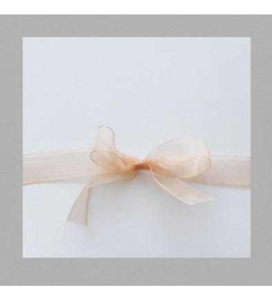 Ruban mousseline Saumon 60 cm