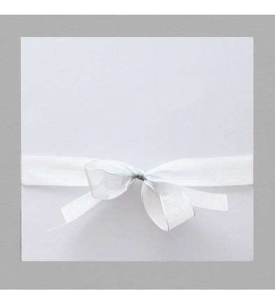 Ruban mousseline blanc