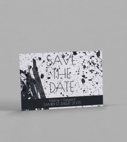 Save the date design Pollock