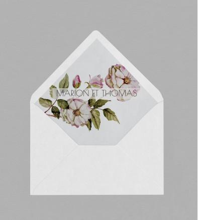 Intérieur enveloppe Botanique Appoline