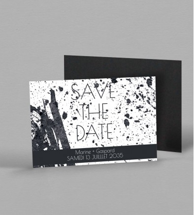 Save the date Magnet design Pollock