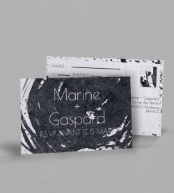 Carton réponse design Pollock