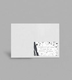 Etiquette enveloppe design Pollock