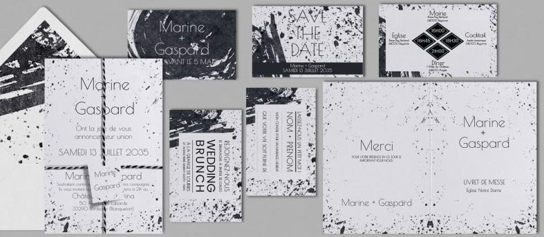 Livret de messe design Pollock