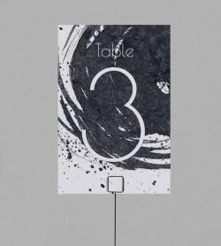 Numéro de table design Pollock
