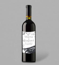 Etiquette bouteille de vin design Pollock
