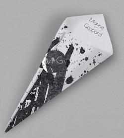 Cornet confettis design Pollock