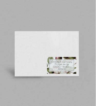 Etiquette enveloppe Botanique Appoline