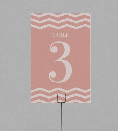 Numéro de table Seductive Rose