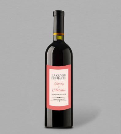 Etiquette bouteille de vin Seductive Rose