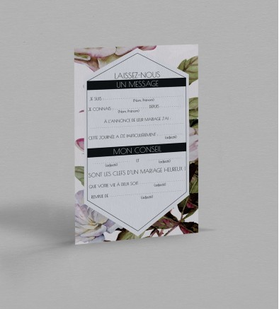 Carte urne Botanique Appoline
