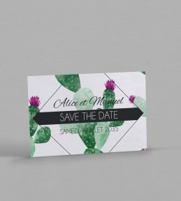 Save the date Exotique Cactus