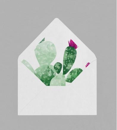 Intérieur enveloppe Exotique Cactus