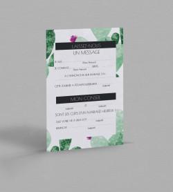 Carte urne Exotique Cactus