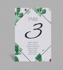 Plan de table exotique Cactus