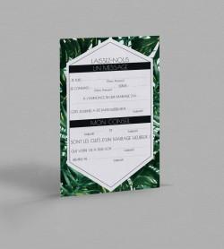 Carte urne exotique Jungle