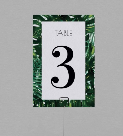 Numéro de table exotique Jungle