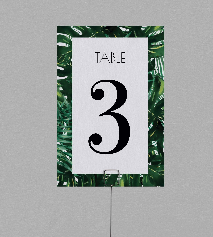 Numéro de table exotique Jungle