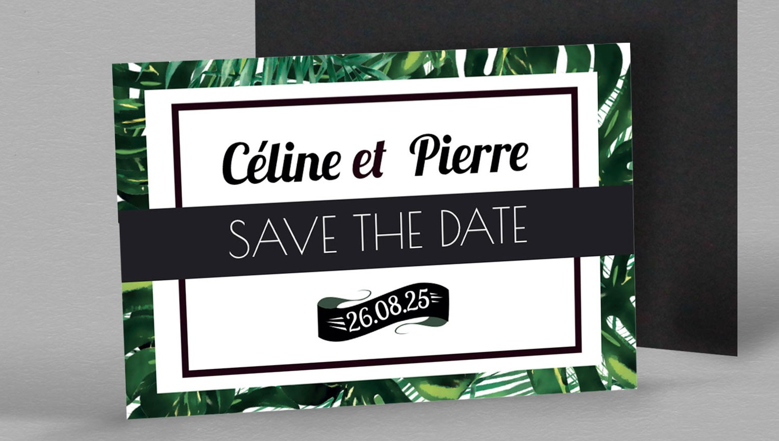 Save the date Magnet exotique Jungle