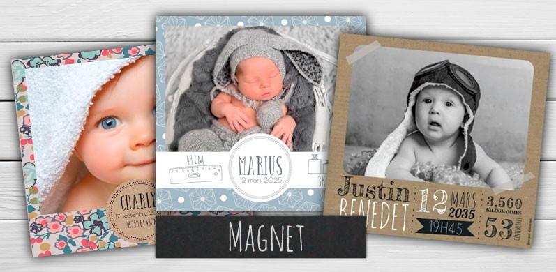 Faire-part naissance Magnet