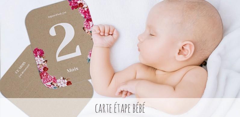 Carte étape bébé