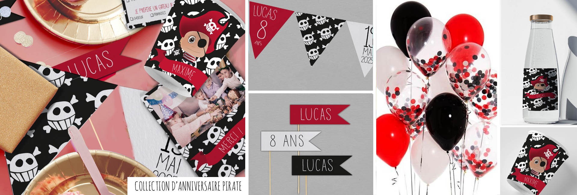 Carte d'anniversaire Pirate
