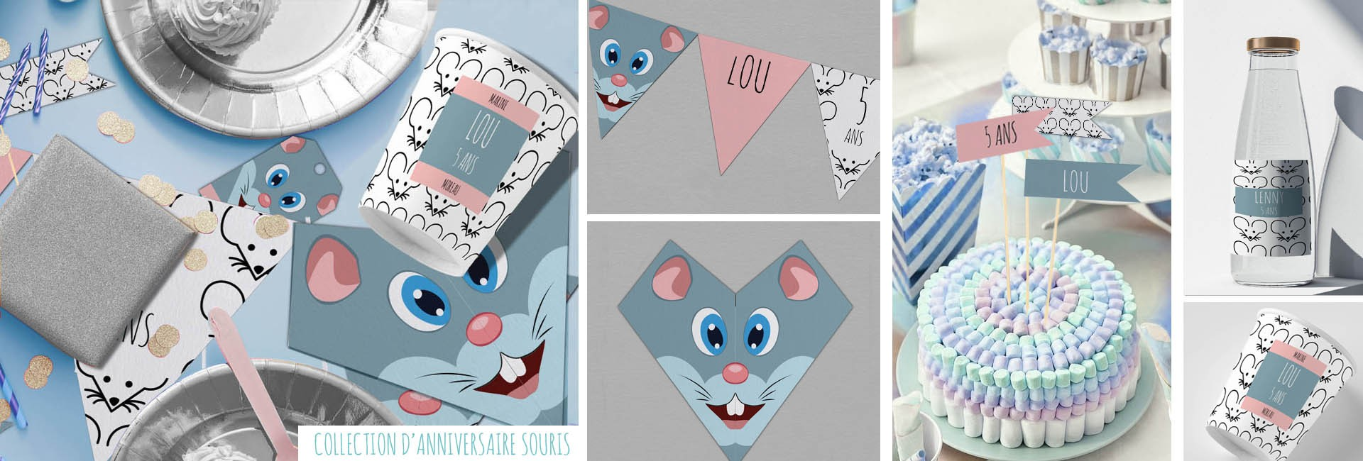 Carte d'anniversaire Collection Souris