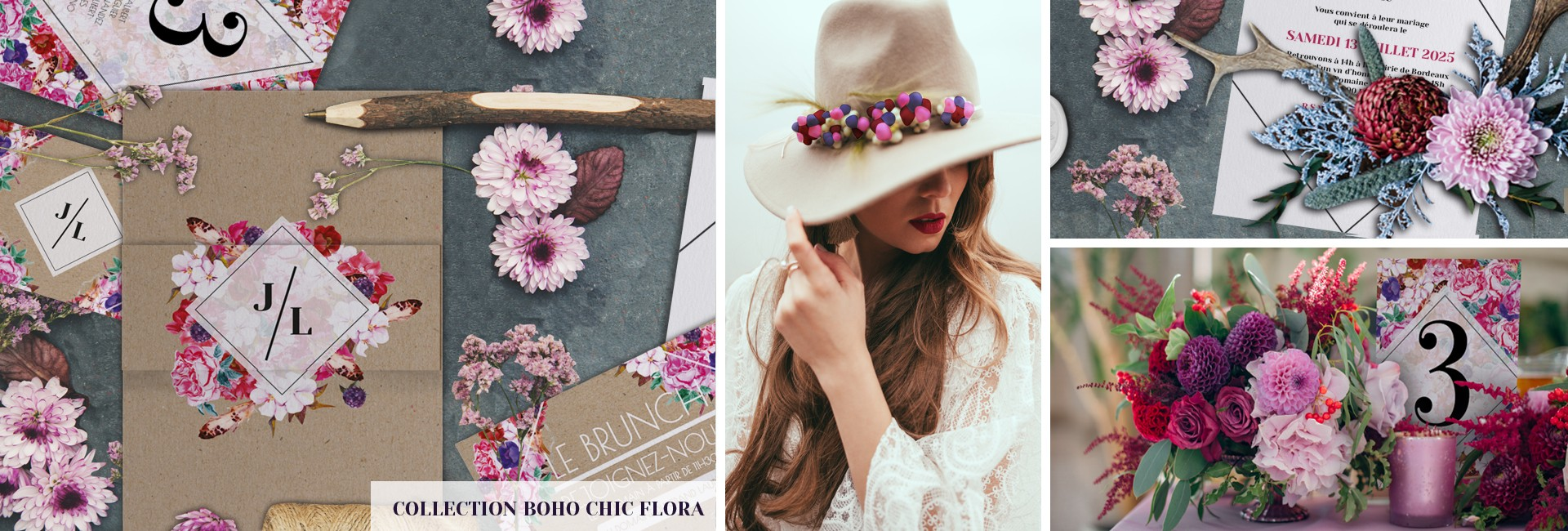 Collection boho chic Flora